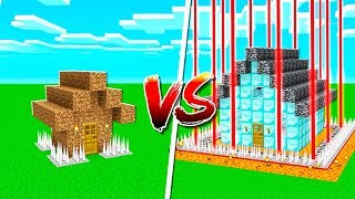 NOOB SAFEST HOUSE vs PROS SAFEST MINECRAFT HOUSE! thumbnail