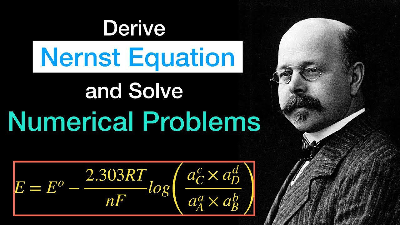 Derive Nernst Equation and Solve Numerical problems   Electrochemistry    Physical Chemistry
