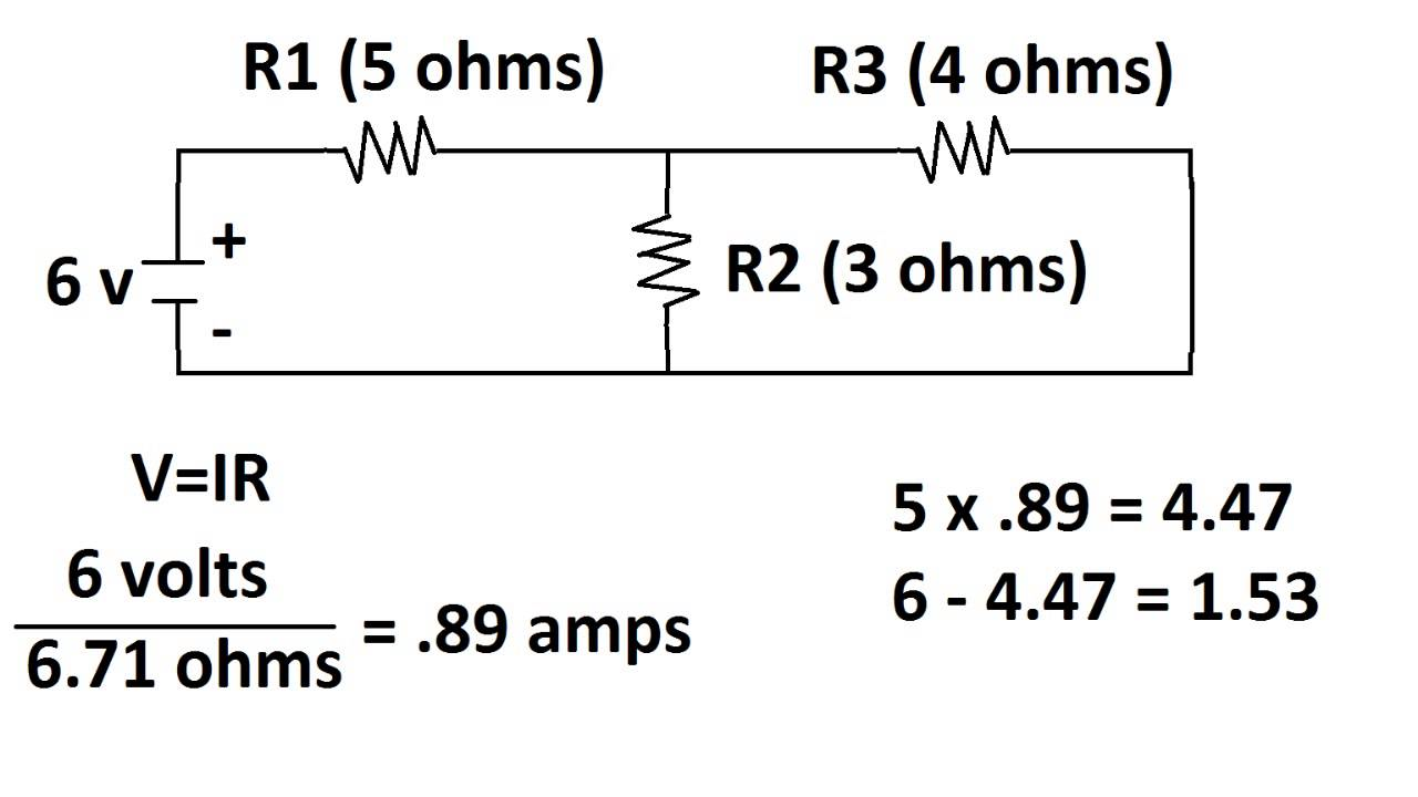 circuit with two voltage sources  how to find voltages of each resistor  parallel and series