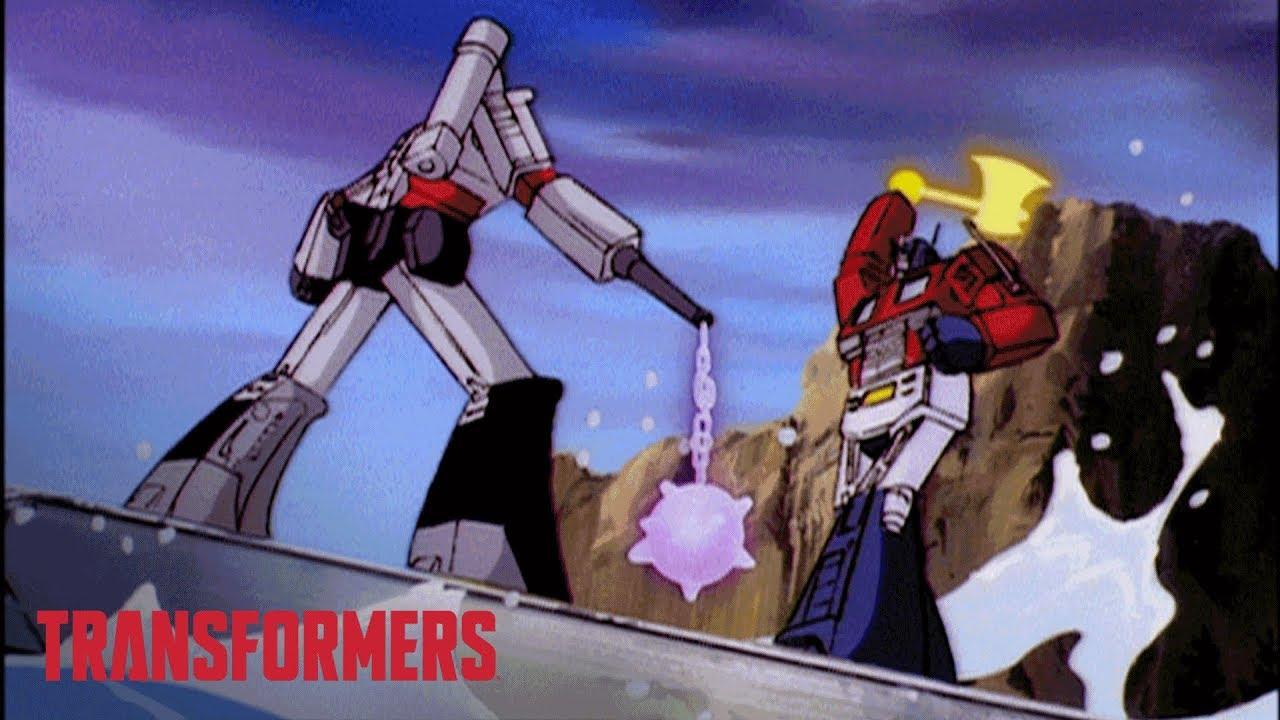 Transformers tv news cyberverse war for cybertron trilogy - Transformers cartoon optimus prime vs megatron ...