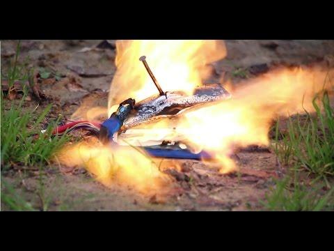 LiPo battery fire.