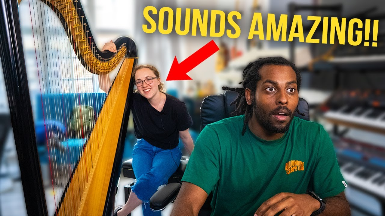 I HIRED A HARPIST AND WE MADE THE CRAZIEST BEATS *Sounds Amazing*
