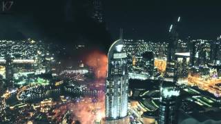 THE ADDRESS HOTEL DOWNTOWN DUBAI ON FIRE