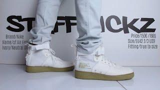 Feet - Nike Air Force 1 SF White/Olive