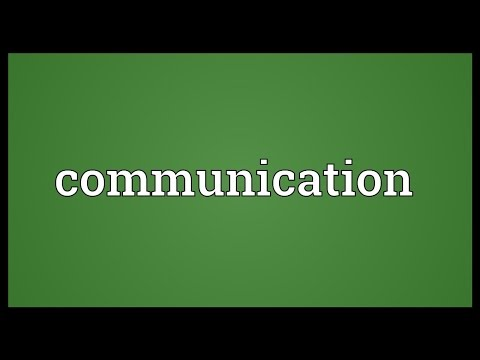 Communication Meaning