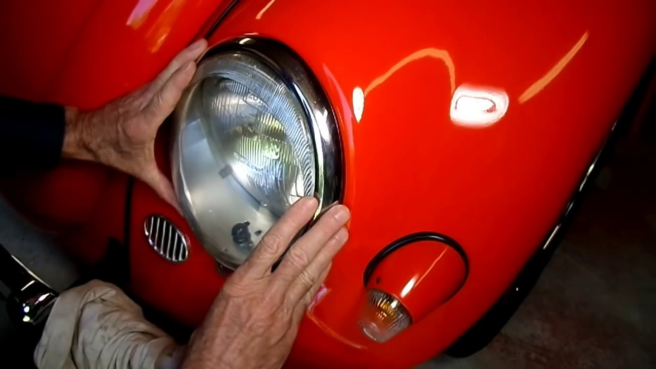 Early Vw Beetle Headlight Bulb Replacement