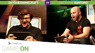 Google Play: Game On // SkyDoesMinecraft vs. Matthew Santoro [Bombsquad]