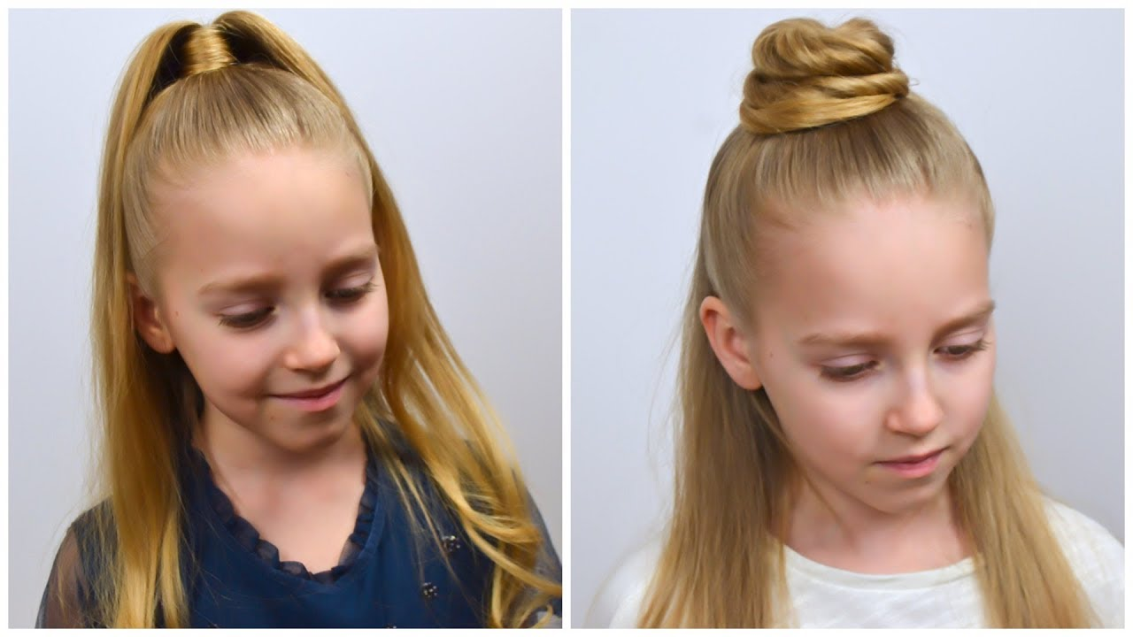 How to half up ponytail - TRENDY hairstyles 2020 (3 ways) by LittleGirlHair