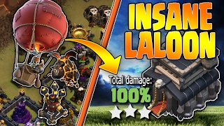 LALOON IS INSANE! - TH9 3 Stars - Queen POP + GoBoLaLoon - Clash of Clans - War Attack Strategies