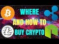 WHERE AND HOW TO BUY CRYPTOCURRENCY - BEST PLACE TO PURCHASE CRYPTO
