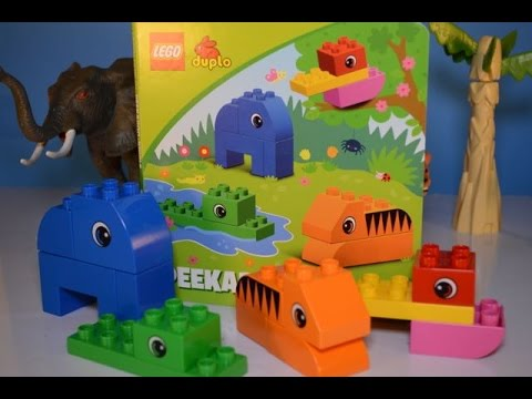 Read Along Lego Duplo Peekaboo Jungle Book & Lego Animals Toy Review