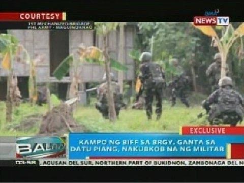 BP: Kampo ng BIFF sa Brgy. Ganta sa Datu Piang, Maguindanao, nakubkob na ng militar