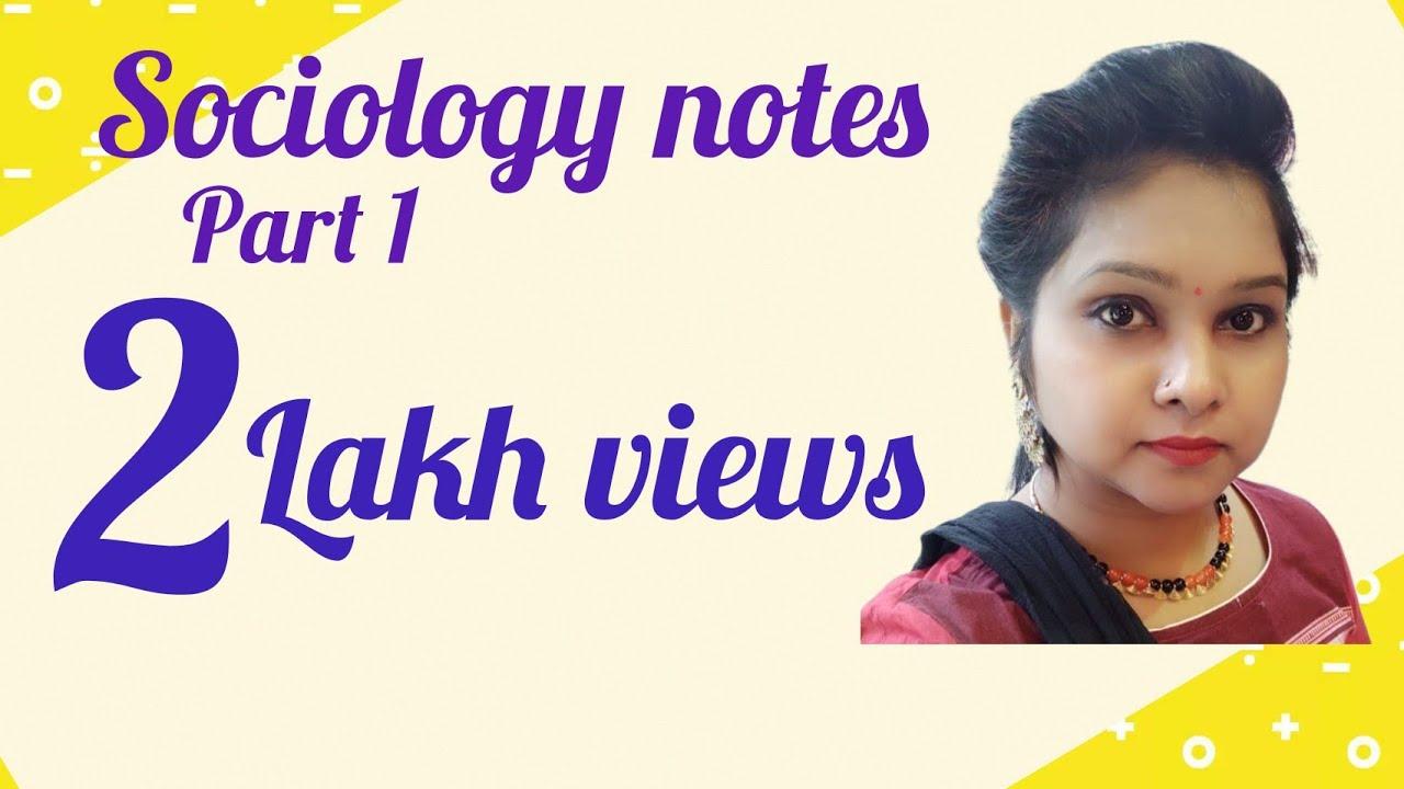 Sociology notes part 1