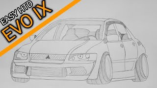 jdm draw easy evo mitsubishi lancer ix