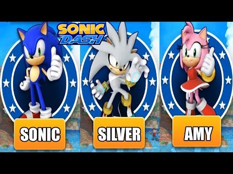 Sonic Dash Android Gameplay - SONIC VS SILVER VS AMY