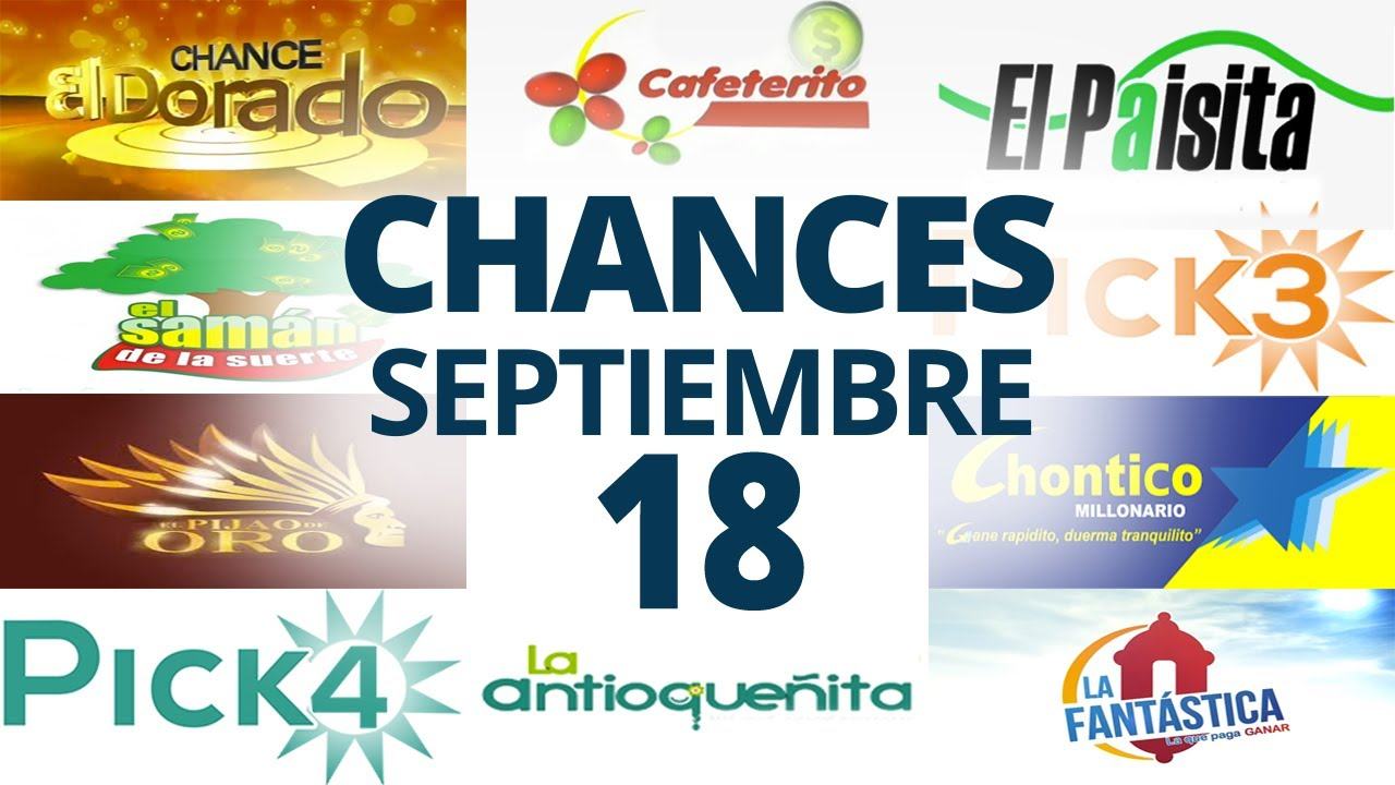 Resultados del Chance del Viernes 18 de Septiembre de 2020   Loterías 😱🤑💰💵