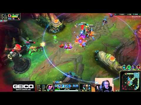 Bjergsen duo Dominate - Yasuo vs Azir Mid - League of Legends