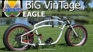 BiG VinTage Bicycle Eagle Fat Tire Beach Cruiser Bike Going for a ride