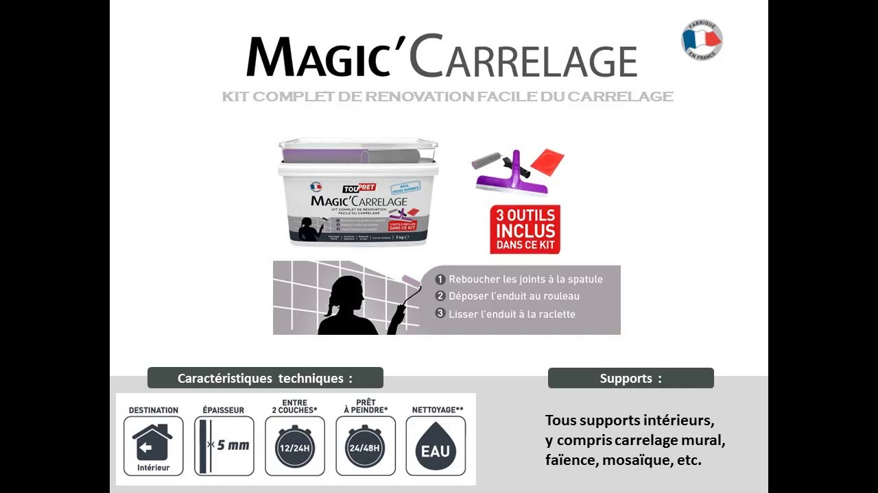 2016 les briconautes toupret magic carrelage youtube for Ads briconautes