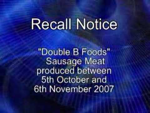 TCI Dept. of Environmental Health Warn Beware of Food Recall
