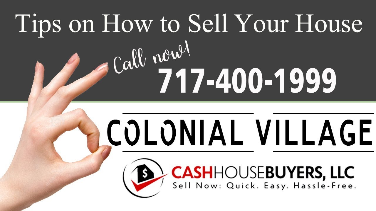 Tips Sell House Fast Colonial Village Washington DC   Call 7174001999   We Buy Houses