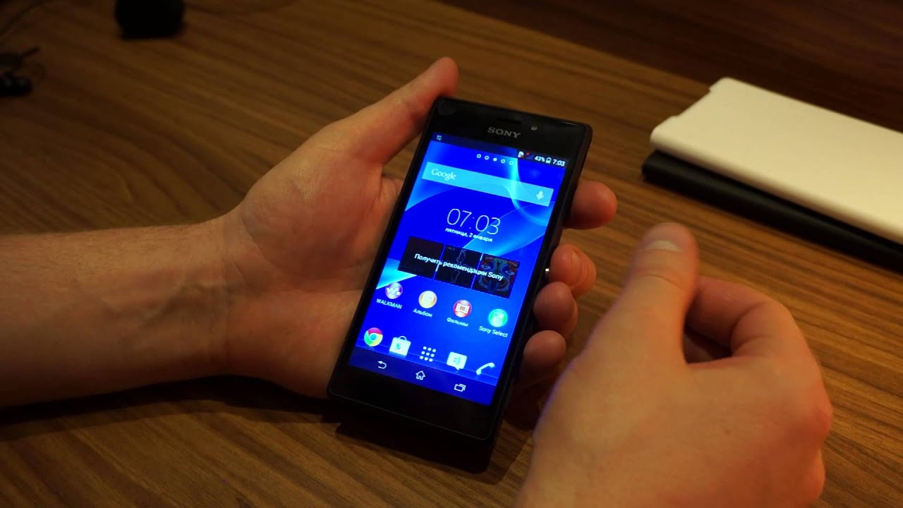 Sony Xperia Z (C6603) замена слота SIM карты - YouTube
