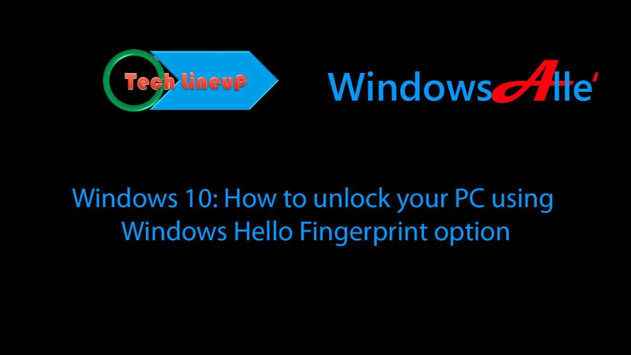 how to add fingerprints in windows 10