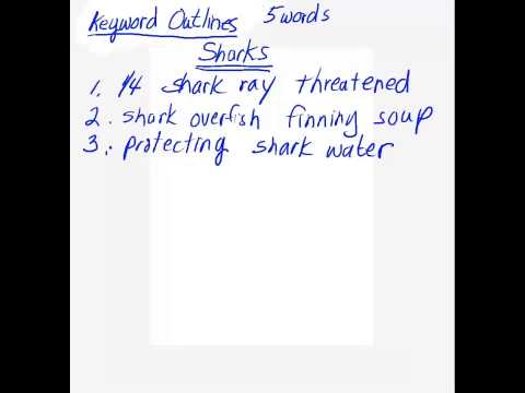 Keyword Outline Video 1