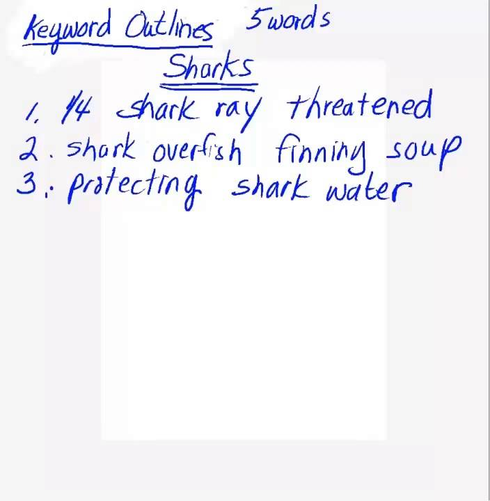Keyword Outline Video 1