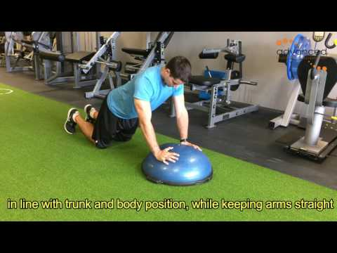 SHOULDER EXERCISES Push Up Plus On Bosu Ball On Knees