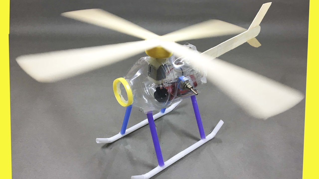 How to make a helicopter electric helicopter youtube for Model out of waste materials