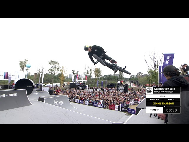 Dennis Enarson 2nd place  - UCI BMX Freestyle Park World Cup Final | FISE World Series Chengdu 2018