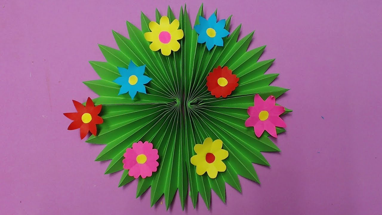 How To Make Wall Decoration With Color Paper Diy Wall