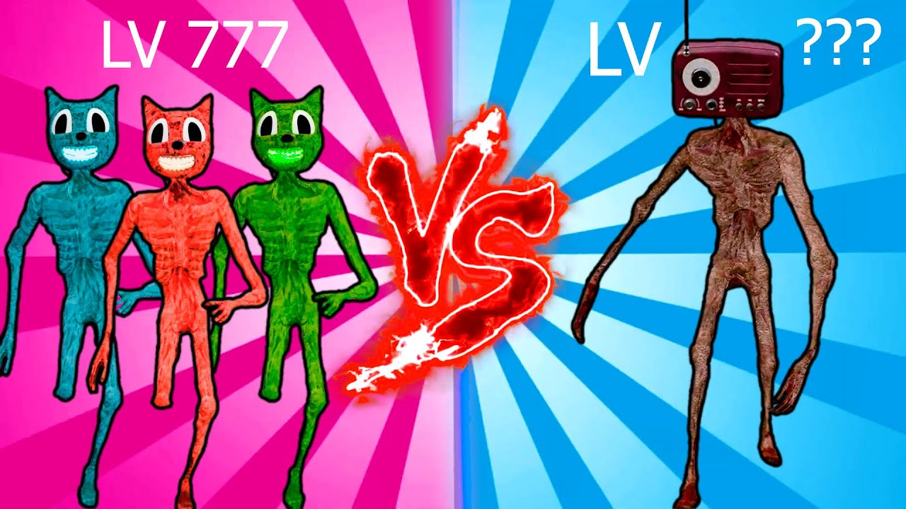 Team Siren Head vs Siren Head level up boss vs Human Hulk #2