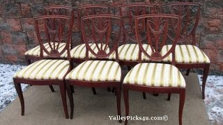 Vintage Mahogany Shield Back Dining Room Chairs