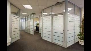 видео Офисные перегородки из стекла