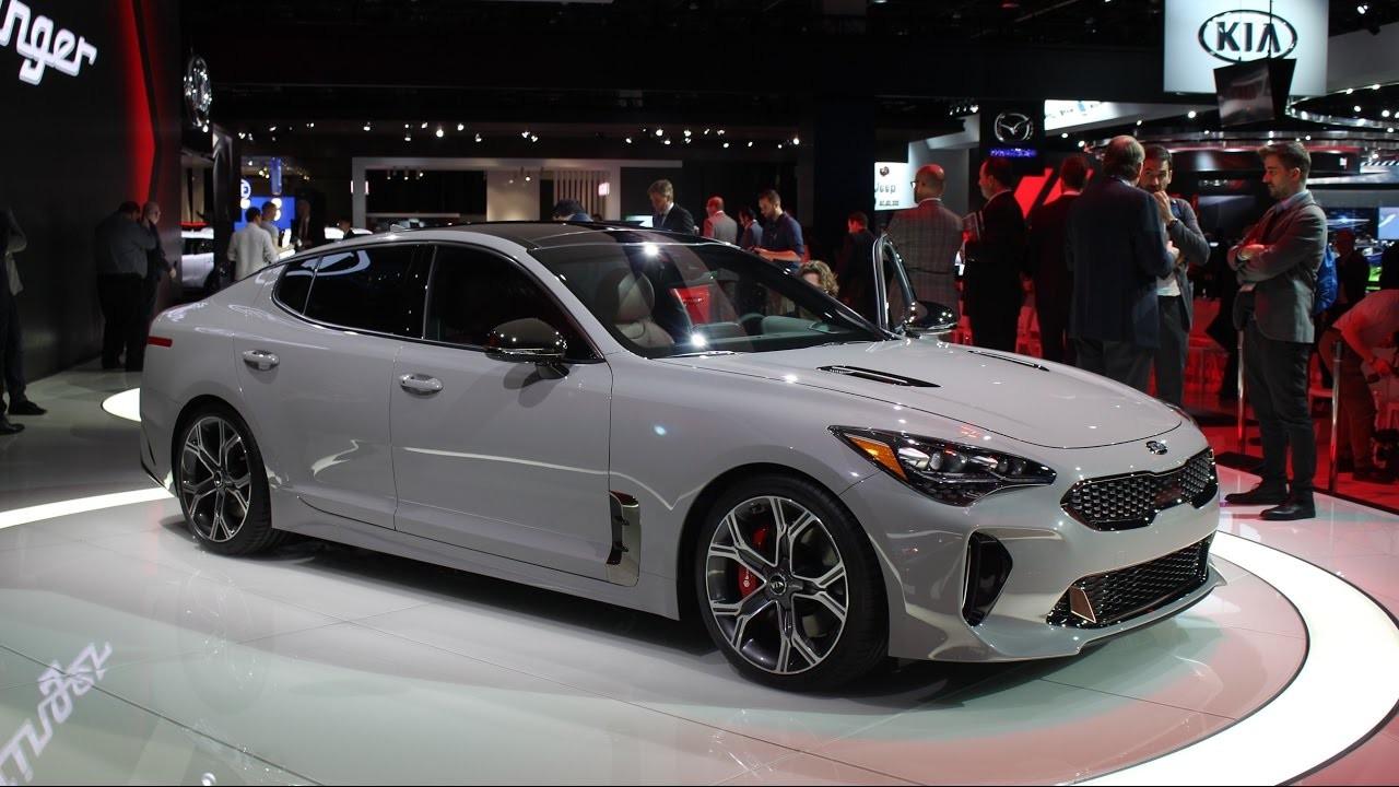2018 Kia Stinger Gt At The 2017 Naias Detroit Auto Show