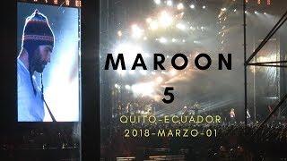 Maroon 5. Red Pill Blues Tour. Quito - Ecuador, 1 de Marzo 2018