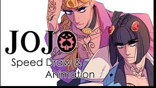Speed Draw and Animation - JJBA: Vento Aureo - The Passione