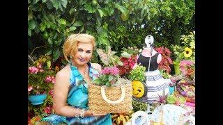 Bolsos y  Carteras sembradas con Cactus, Suculentas y Plantitas de Flores | Tutorial