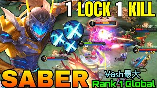 ONE LOCK ONE KILL!! Ultimate Killer Saber the Golden Flash! - Top 1 Global Saber by V̶a̶sh最大 - MLBB