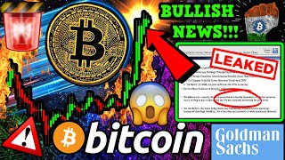 BITCOIN BREAKOUT!!!? Goldman Sachs BTC Client Call LEAKED!! BULLISH INDIA NEWS 🚀