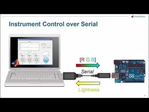 Создание интерфейсов для работы с аппаратурой в  App Designer (Arduino)