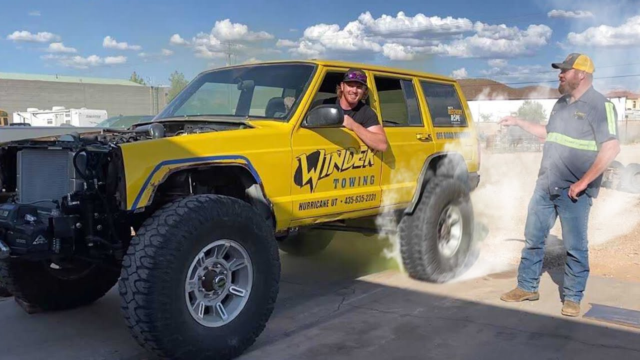 The Banana Roars To Life! Jeep Gets A 4.6 Stroker Motor