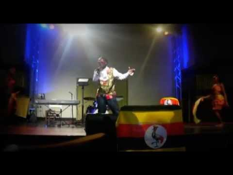 Lucky Bosmic Otim LIVE on stage in Oxford UK