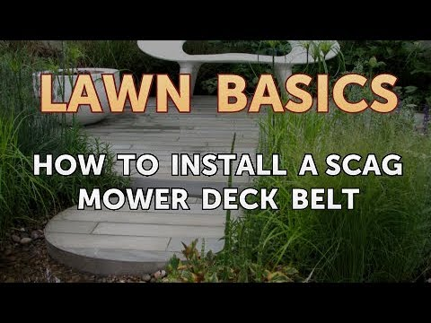 How to Install a Scag Mower Deck Belt