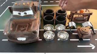 Disney Cars Mater  Fix and Repair Rebuild Toy Car Kit Video for kids