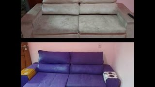 Pintando o sofá