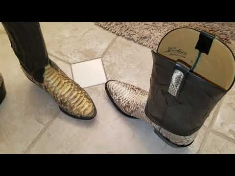 Lucchese Classics back cut python boots