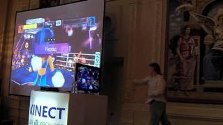 Обзор XBOX 360 Kinect - демо, я боксирую ;)